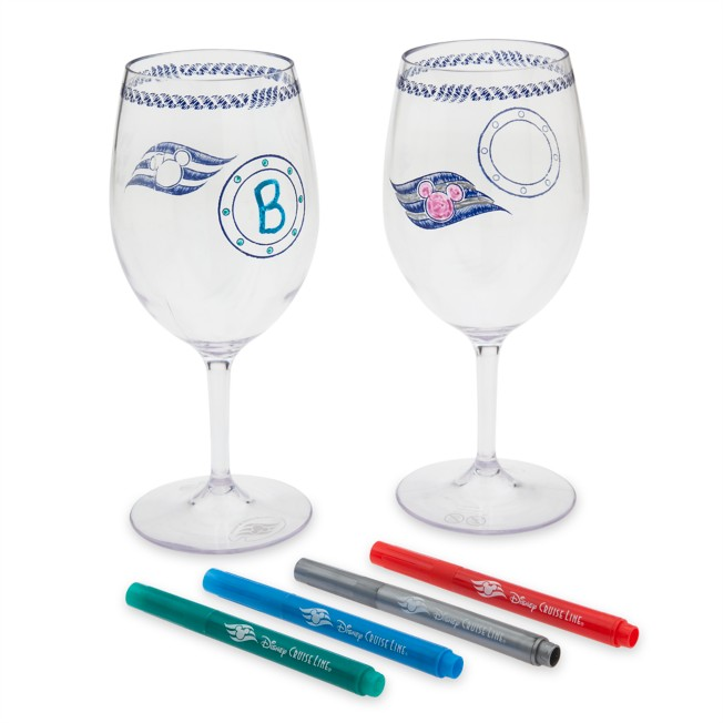 Disney Cruise Line Stemware and Marker Set