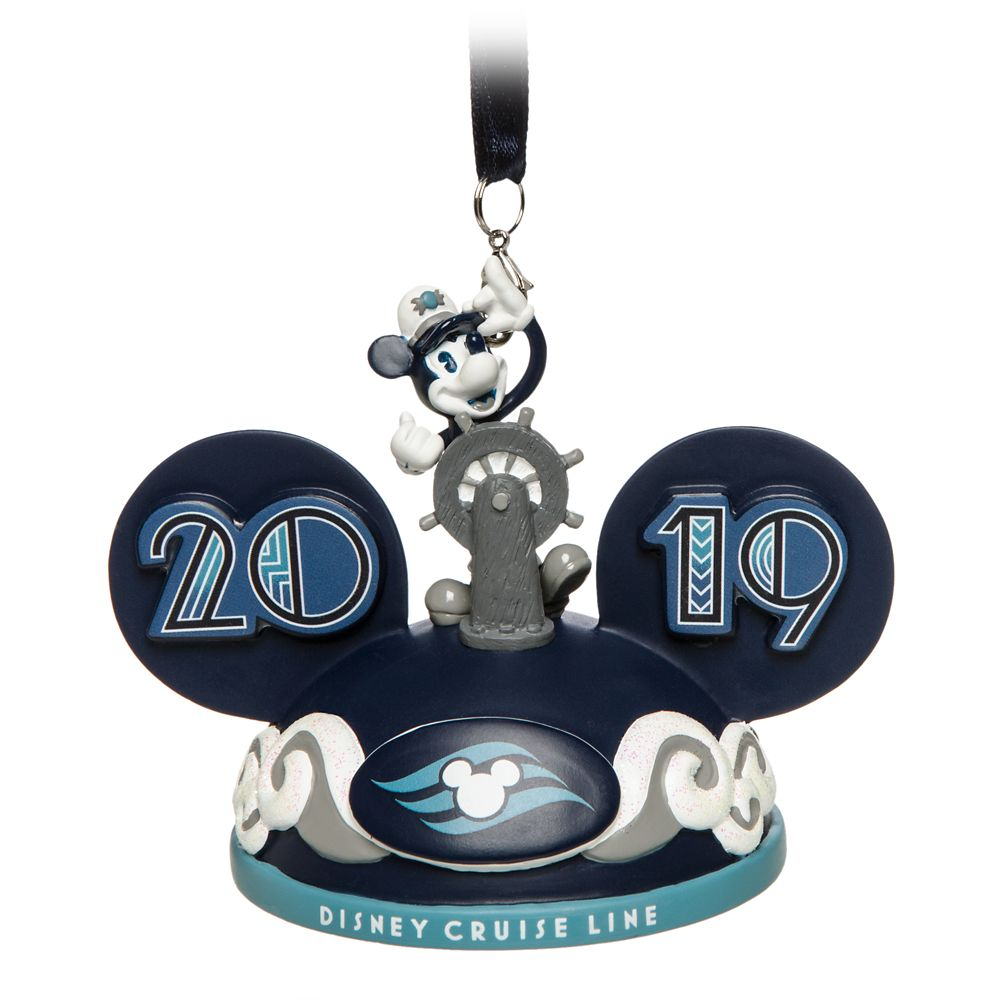 Mickey Mouse Ear Hat Ornament  Disney Cruise Line 2019