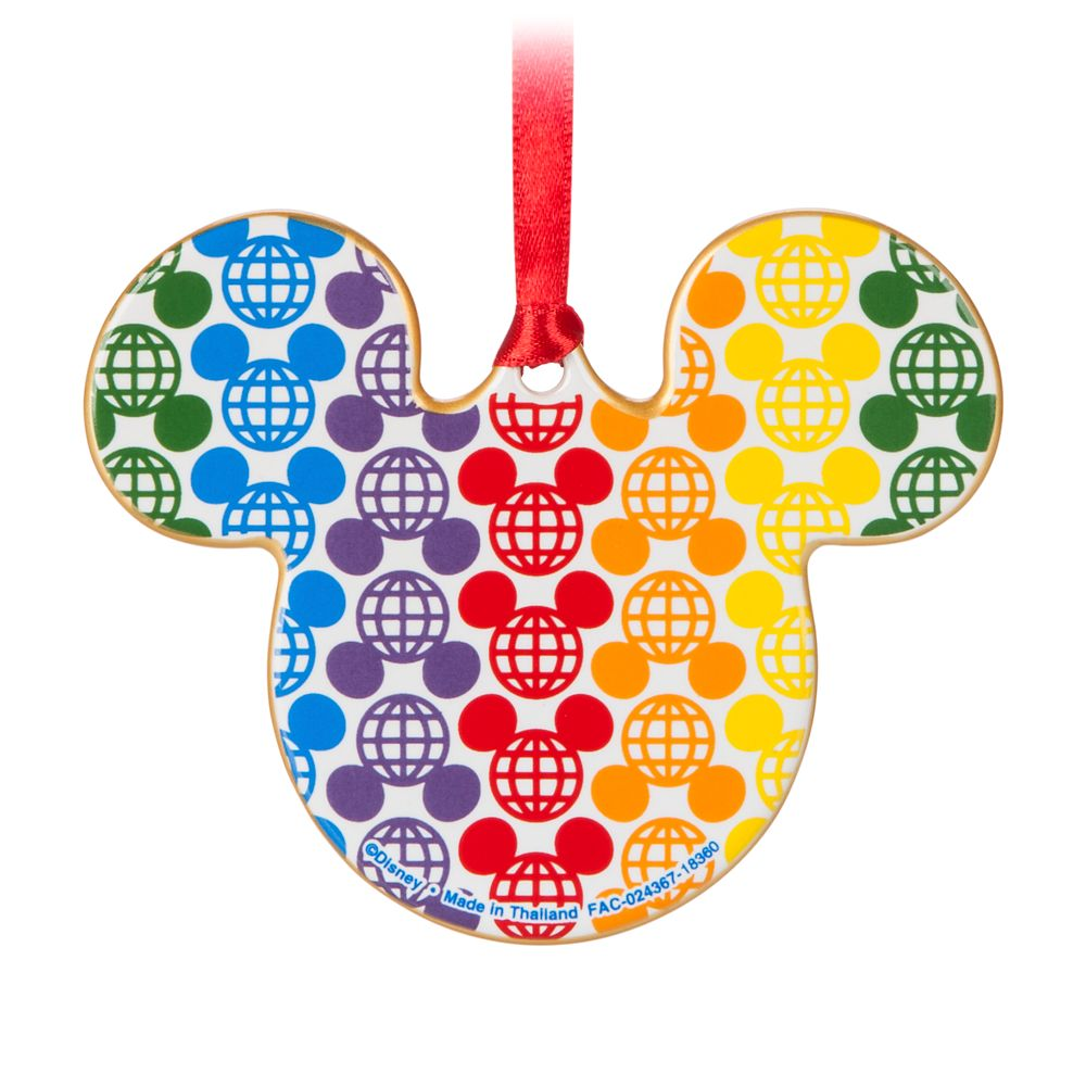 Rainbow Disney Collection Mickey Mouse Ceramic Ornament