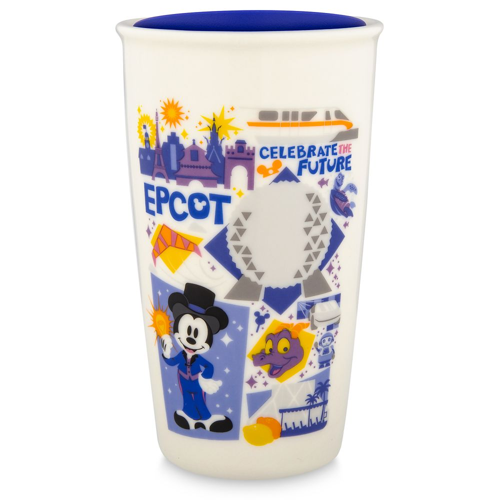 Epcot Starbucks Ceramic Travel Tumbler