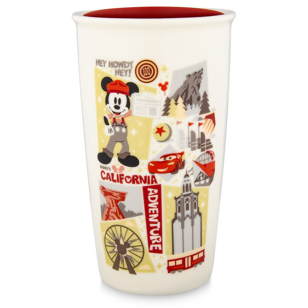 Disney California Adventure Starbucks Ceramic Travel Tumbler
