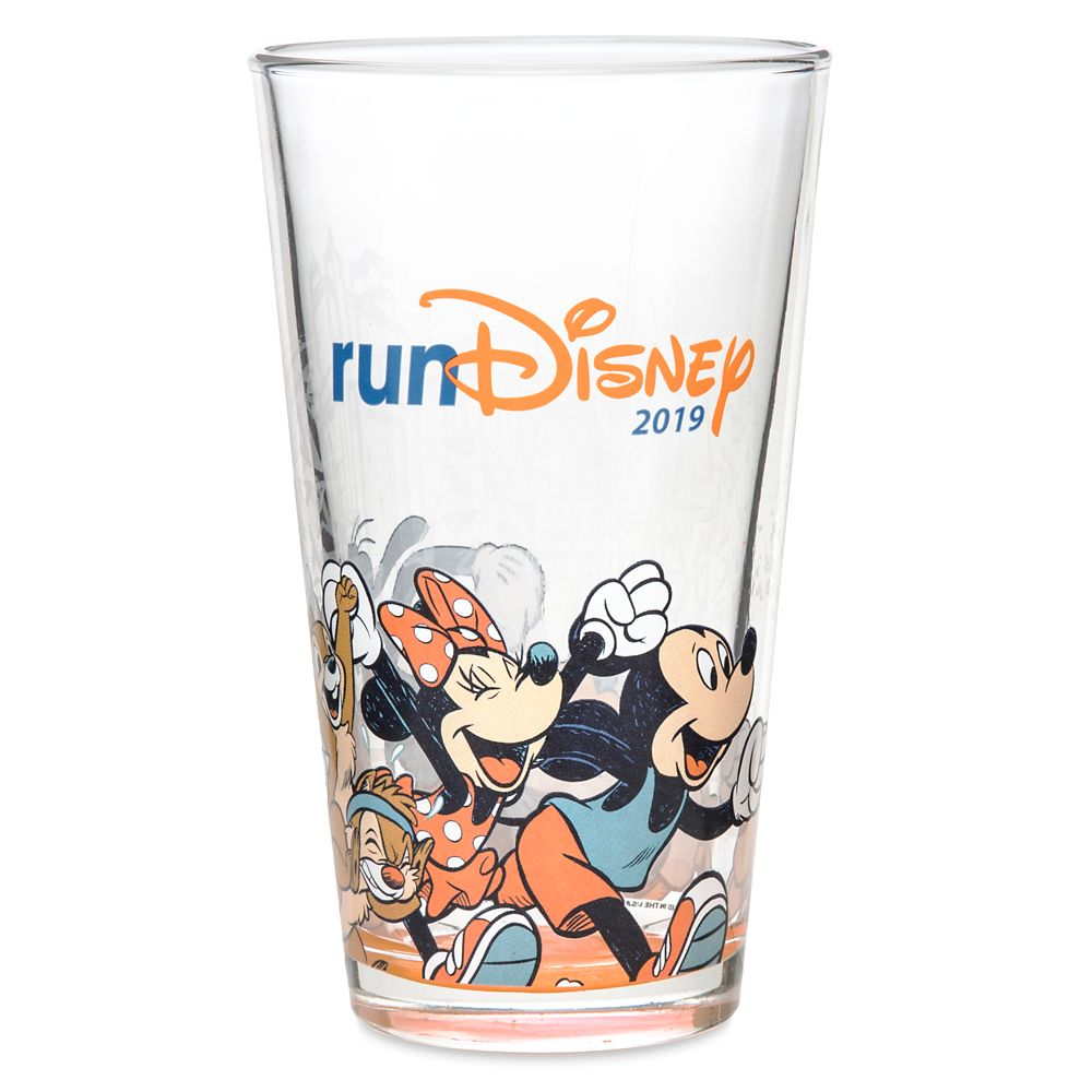 Mickey Mouse and Friends Glass Tumbler – runDisney 2019