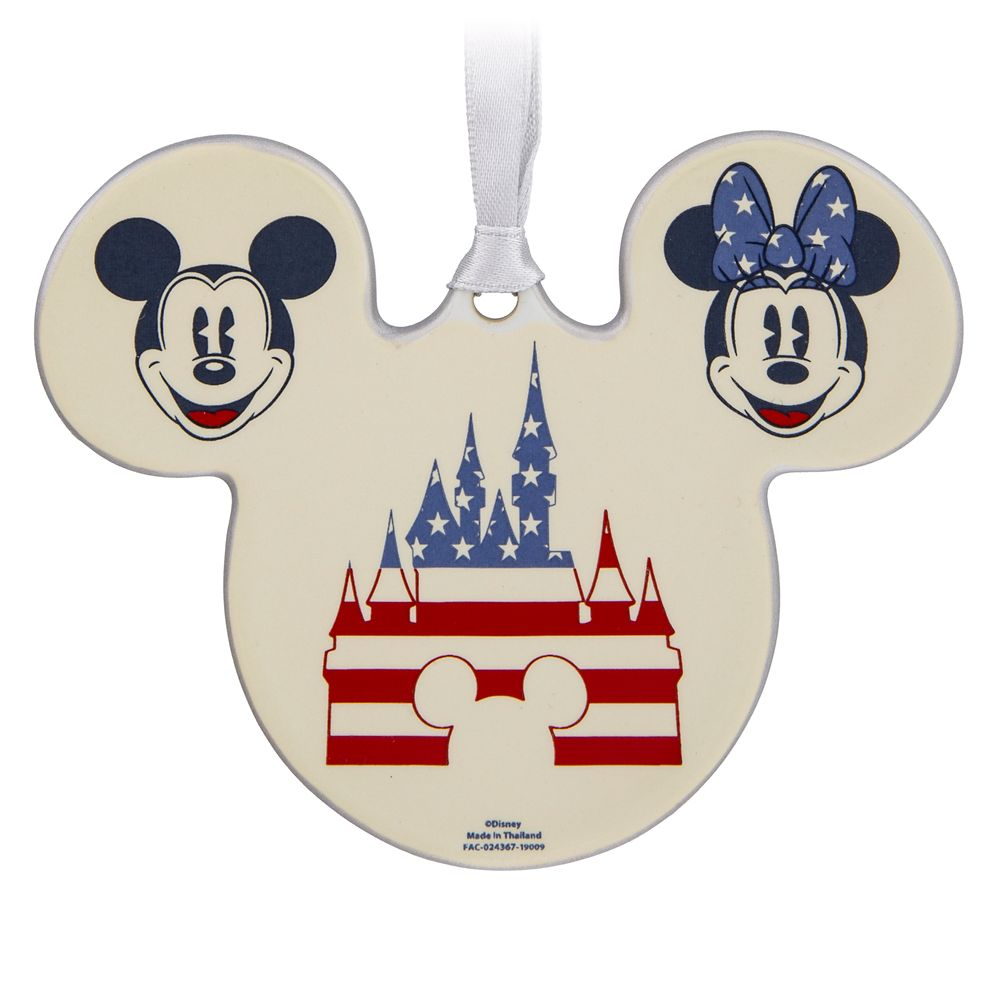 Mickey and Minnie Mouse Americana Ornament
