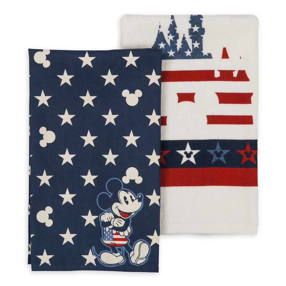 Mickey Mouse Americana Kitchen Towel Set Official shopDisney