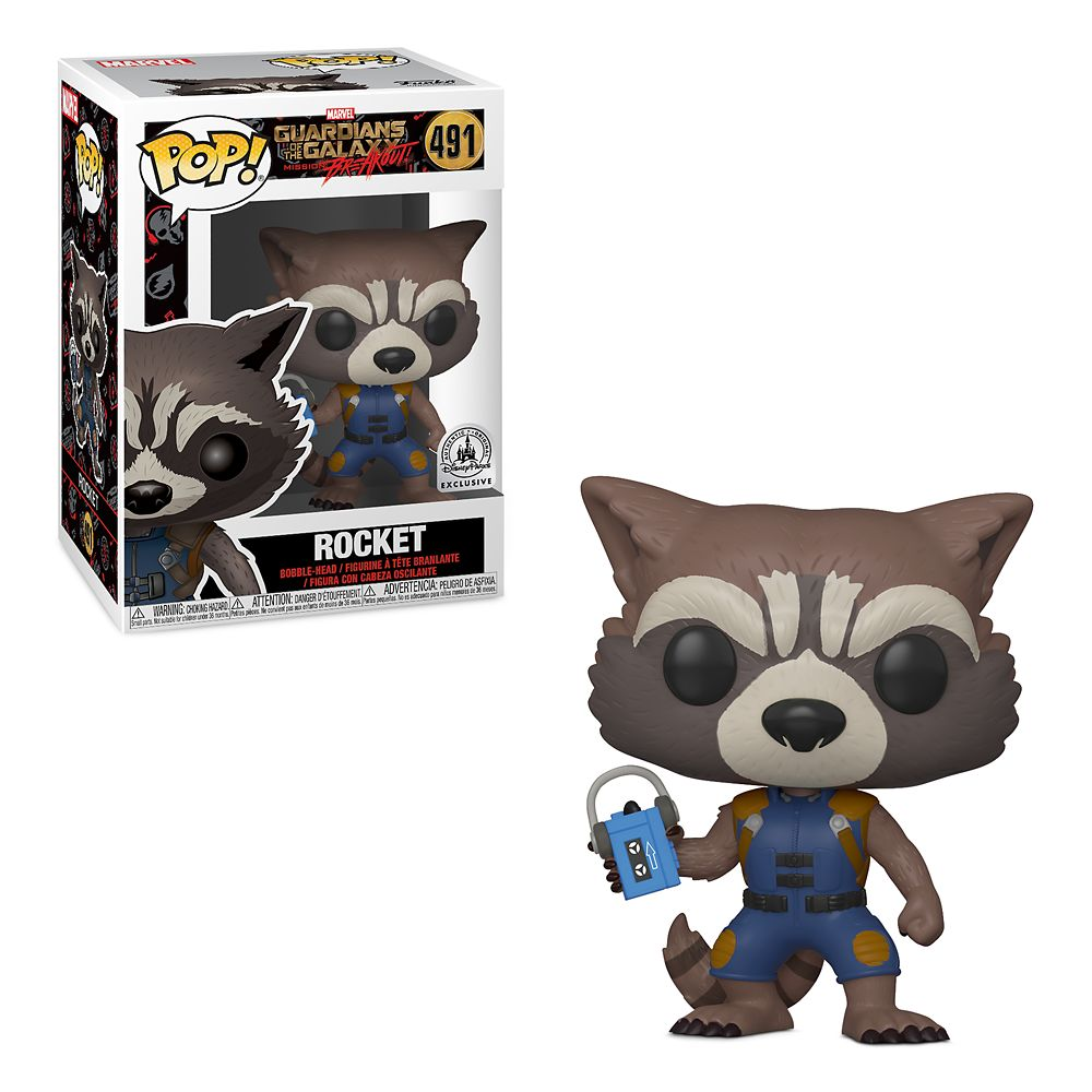 Rocket Pop! Vinyl Bobble-Head Figure by Funko – Guardians of the Galaxy: Mission Breakout