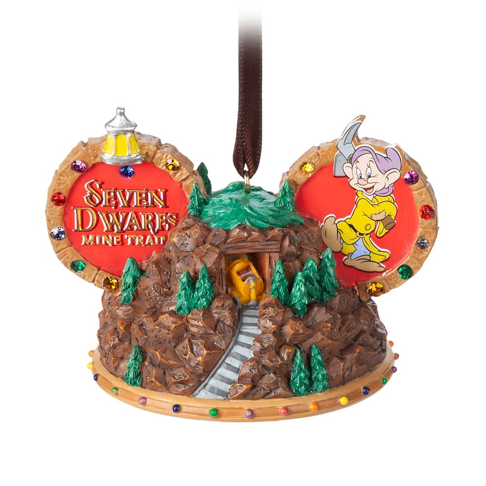 Seven Dwarfs Mine Train Ear Hat Ornament