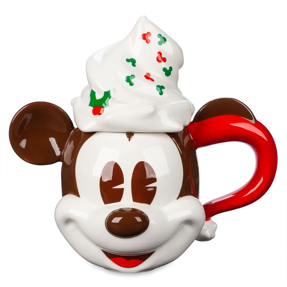 Mickey Mouse Whipped Cream Holiday Mug and Lid
