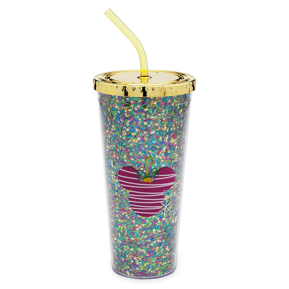 Mickey Mouse Icon Holiday Tumbler with Straw