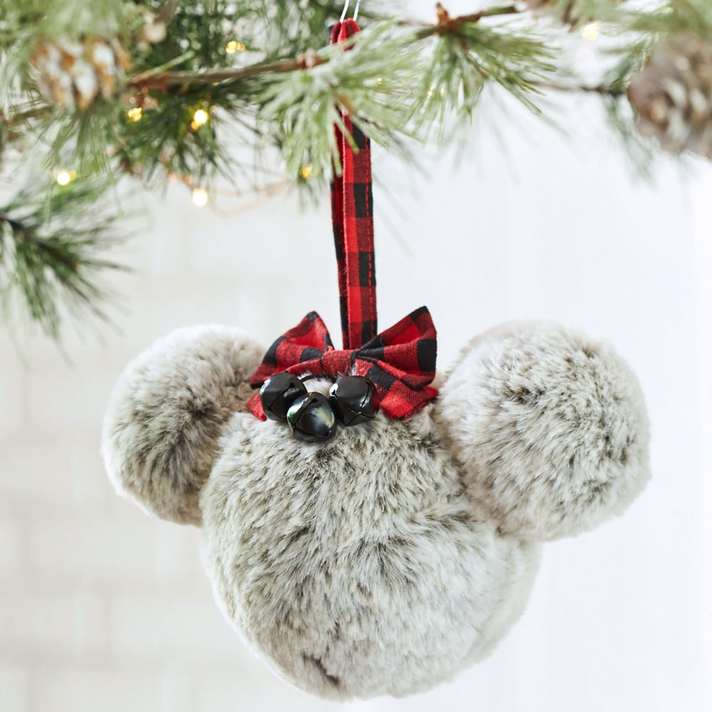 Minnie Mouse Faux Fur Icon Ornament