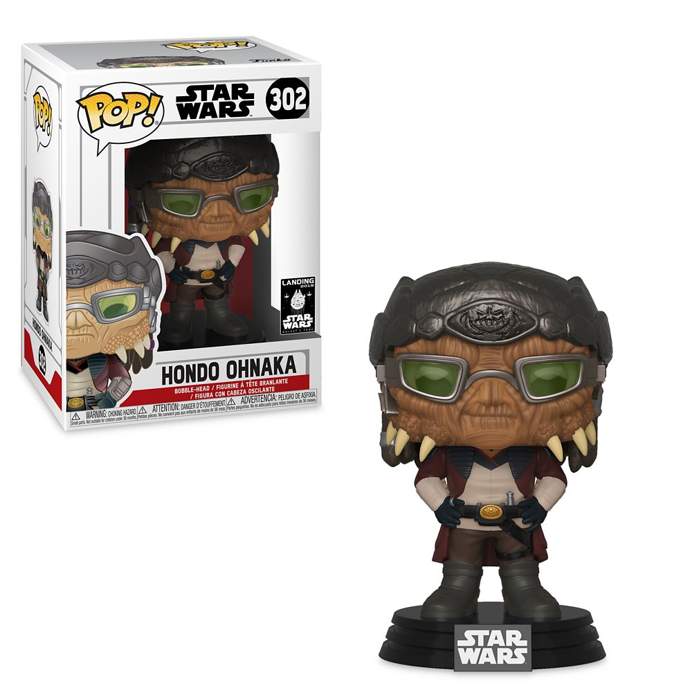 Best Star Wars Gift Ideas featured by top US Disney blogger, Marcie and the Mouse: Hondo Ohnaka Pop! Vinyl Bobble-Head Figure by Funko Star Wars: Galaxy's Edge Official shopDisney