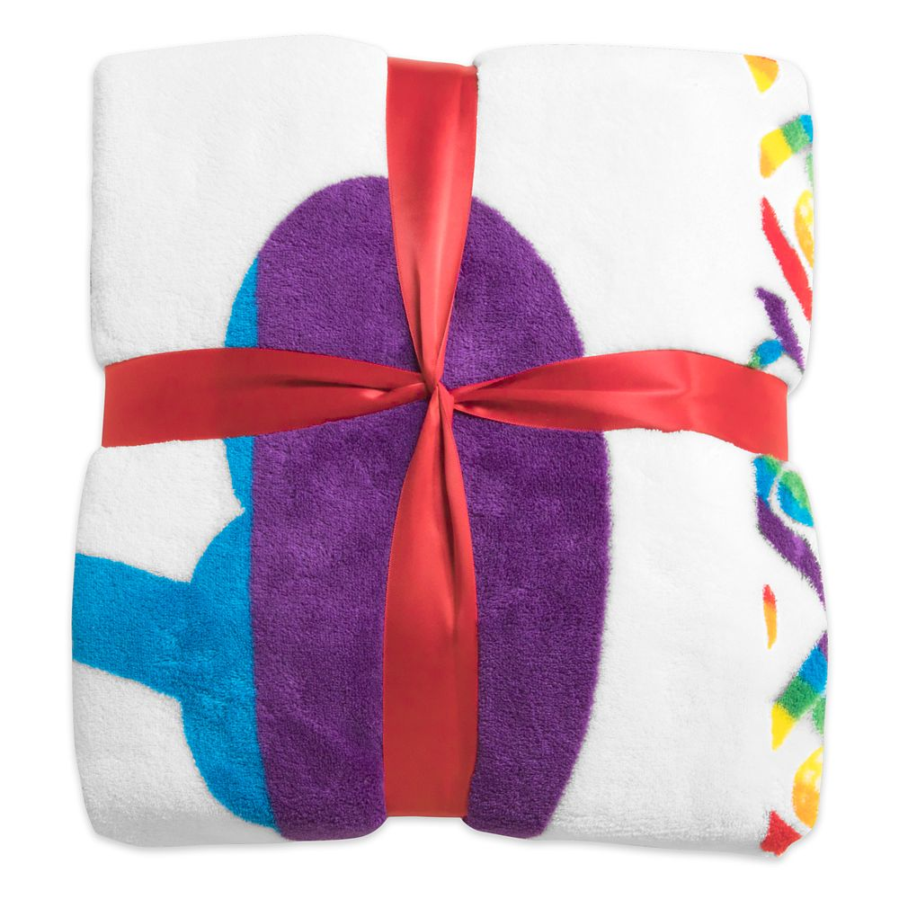 Mickey Mouse Disney Parks Rainbow Fleece Throw