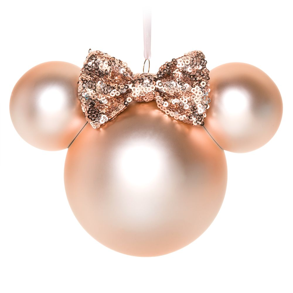 Minnie Mouse Icon Ornament – Briar Rose Gold