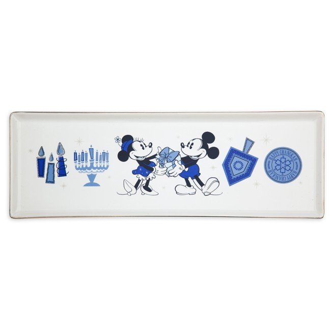 Mickey and Minnie Mouse Chanukah Tray