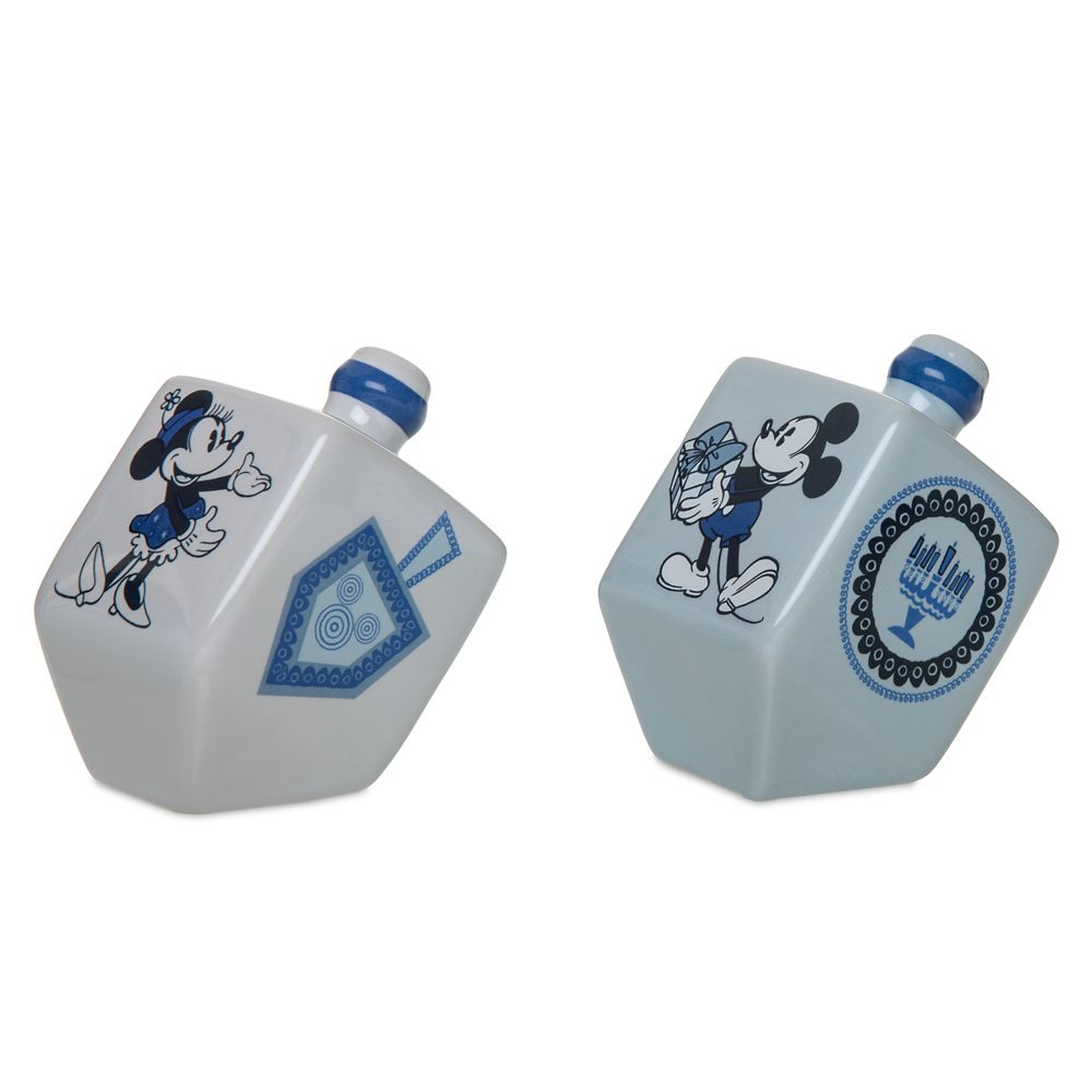 Mickey and Minnie Mouse Chanukah Dreidel Salt and Pepper Set