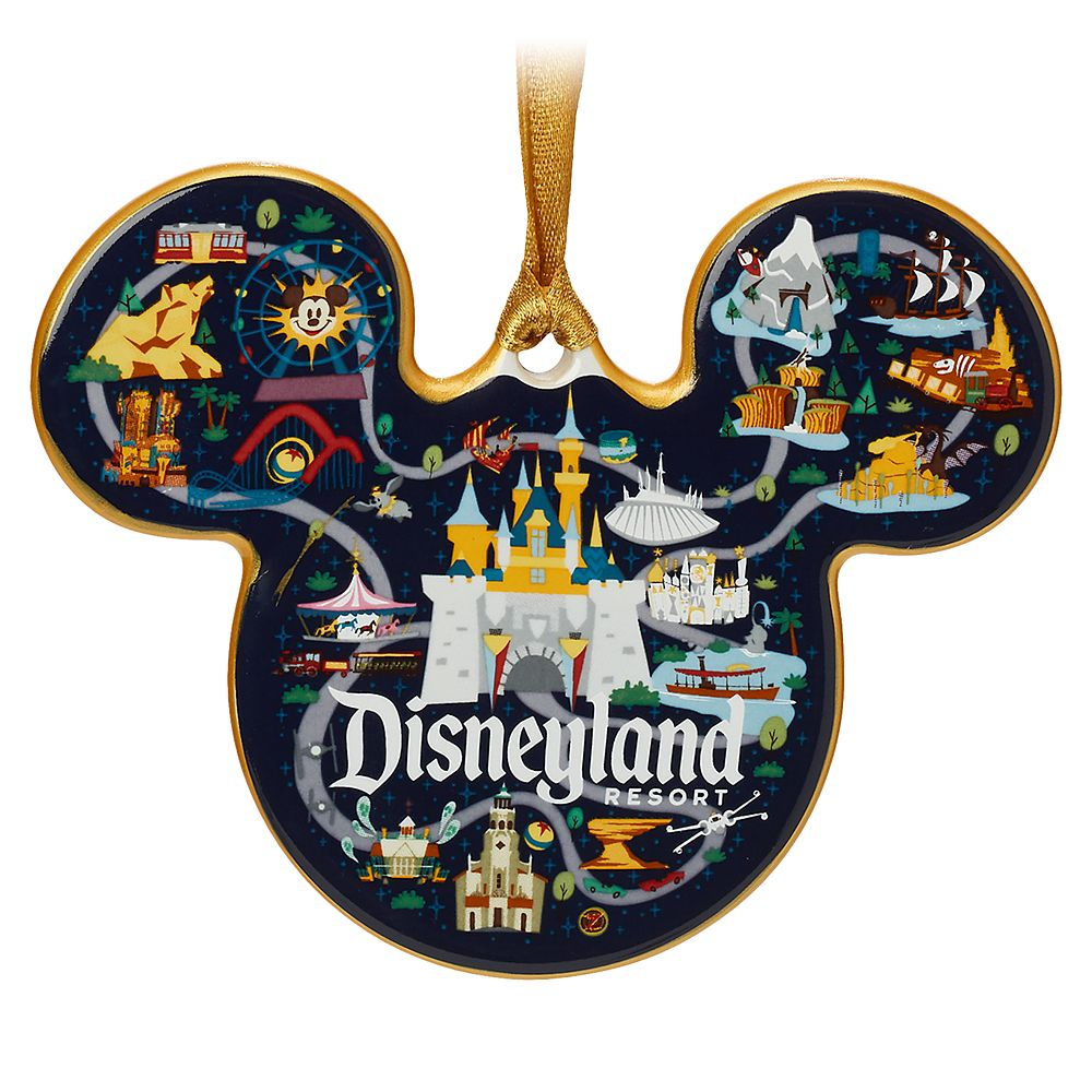 Mickey Mouse Icon Ornament – Disneyland