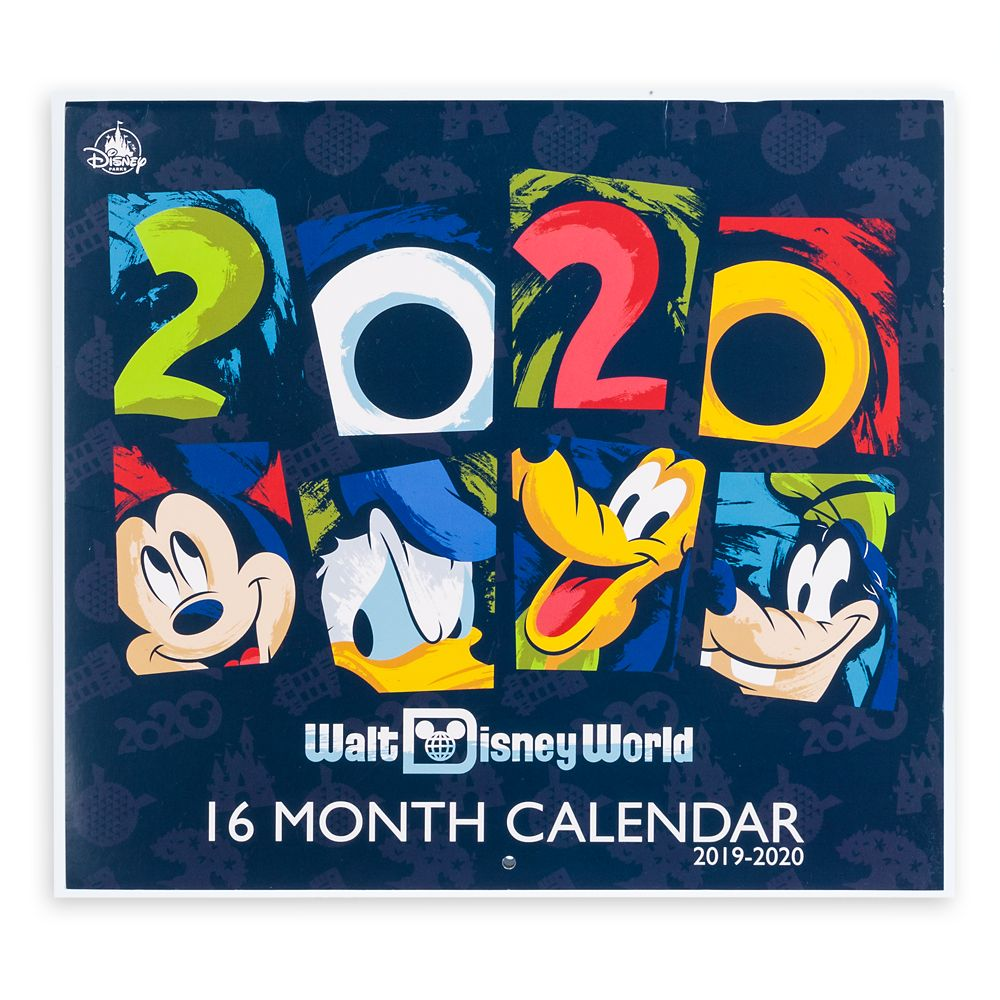 Calendrier Star Wars 2019.Walt Disney World 16 Month Calendar 2019 2020