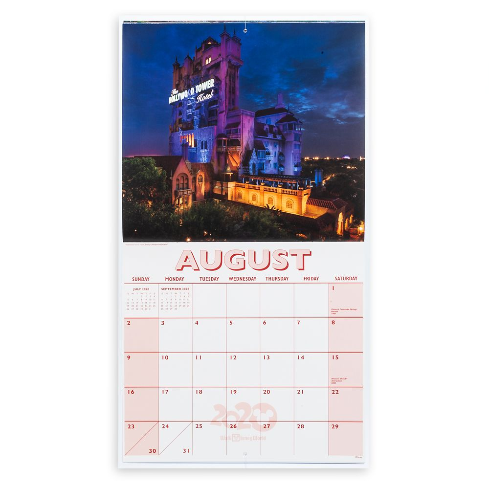 Walt Disney World 16 Month Calendar 2019-2020