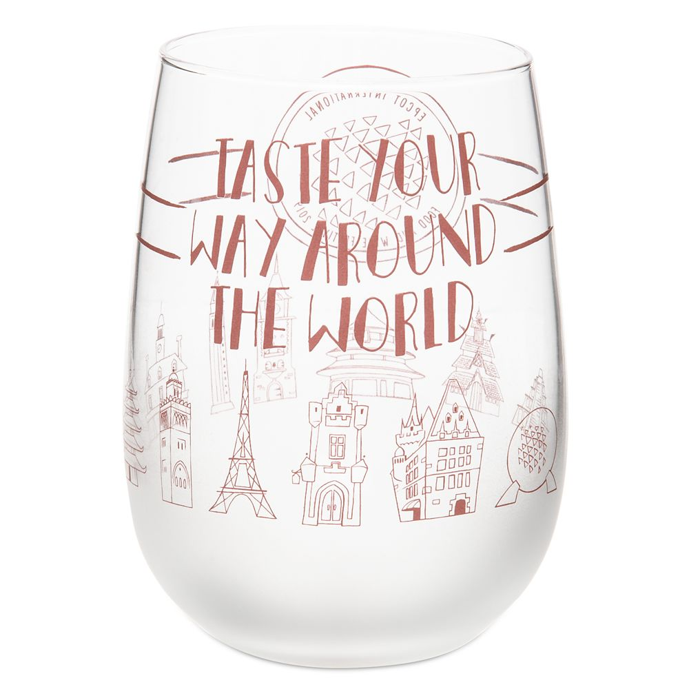 Epcot International Food and Wine Festival 2019 Stemless Wine Glass
