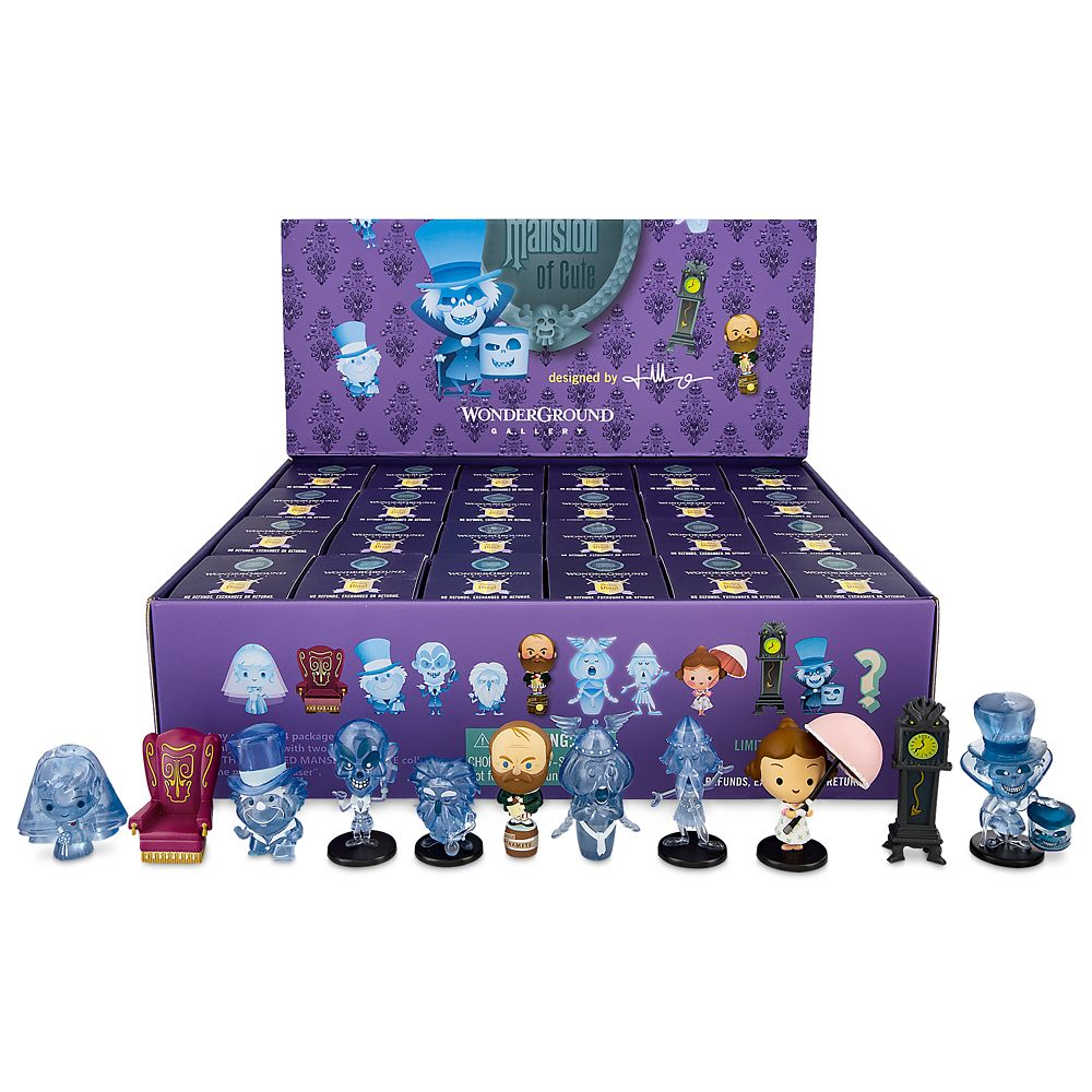 The Haunted Mansion Cute Vinyl Figures Tray by Jerrod Maruyama Official shopDisney