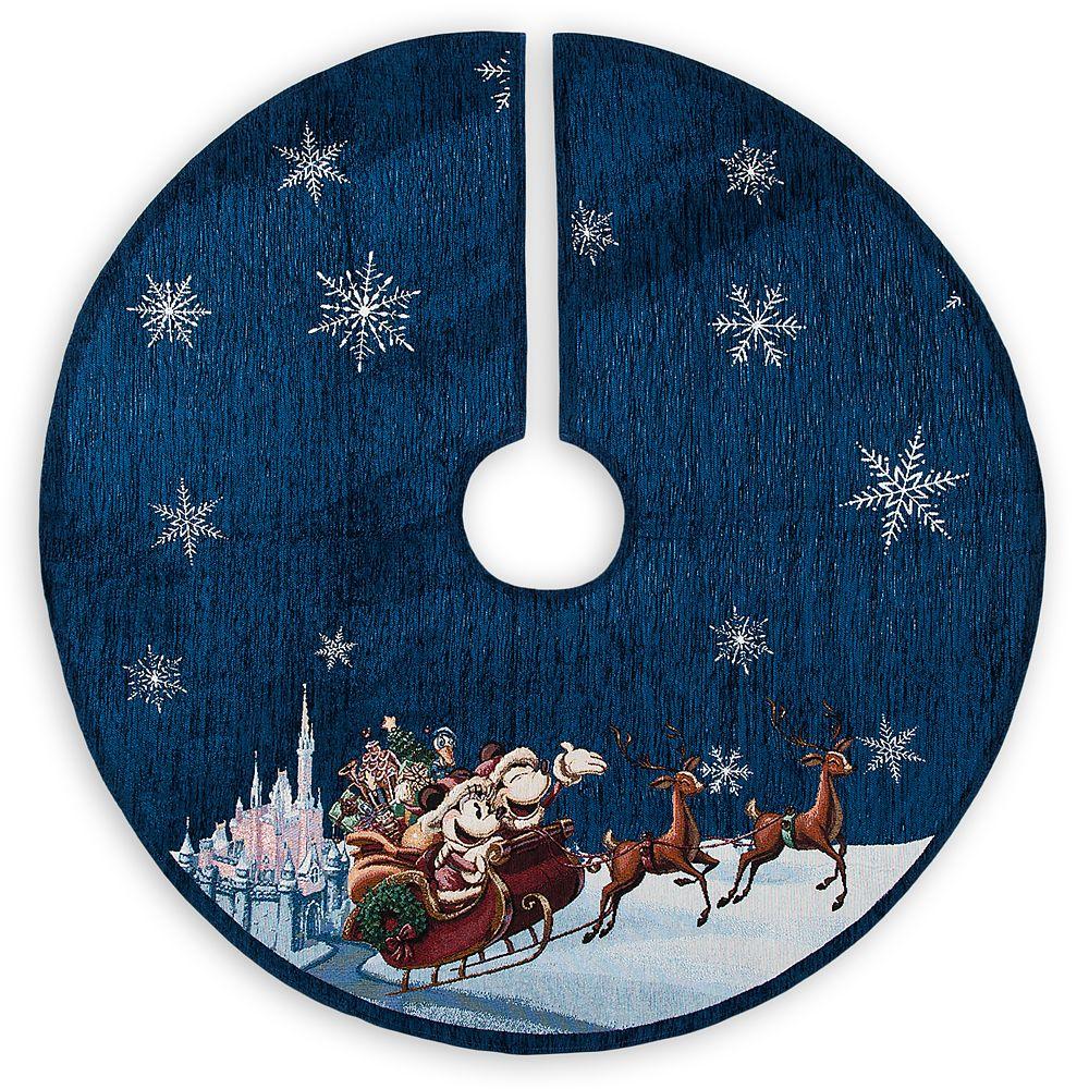 Santa Mickey and Minnie Mouse Holiday Tree Skirt