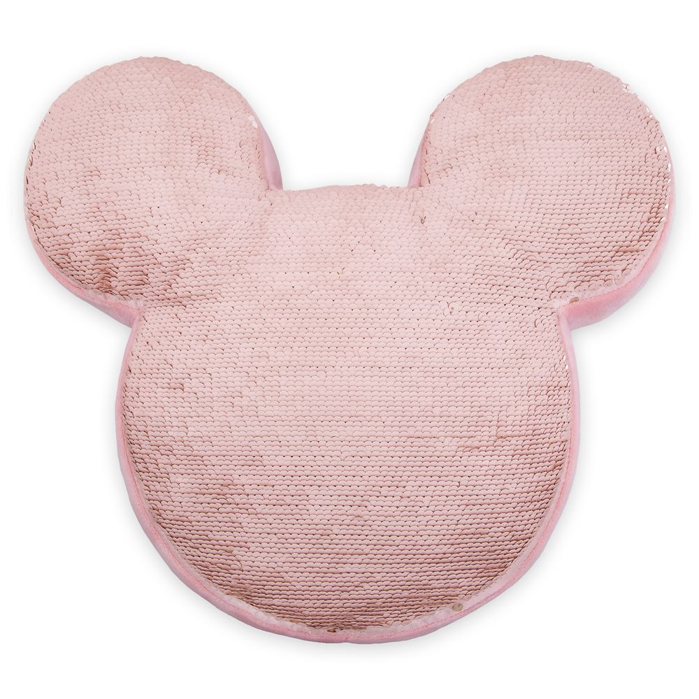 Mickey Mouse Icon Reversible Sequin Plush Pillow – Briar Rose Gold