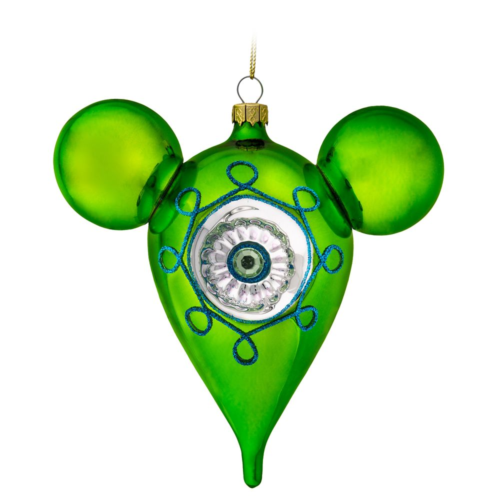 Mickey Mouse Icon Glass Drop Ornament