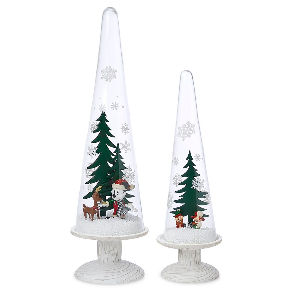 Mickey Mouse and Friends Holiday Pedestal Domes Set