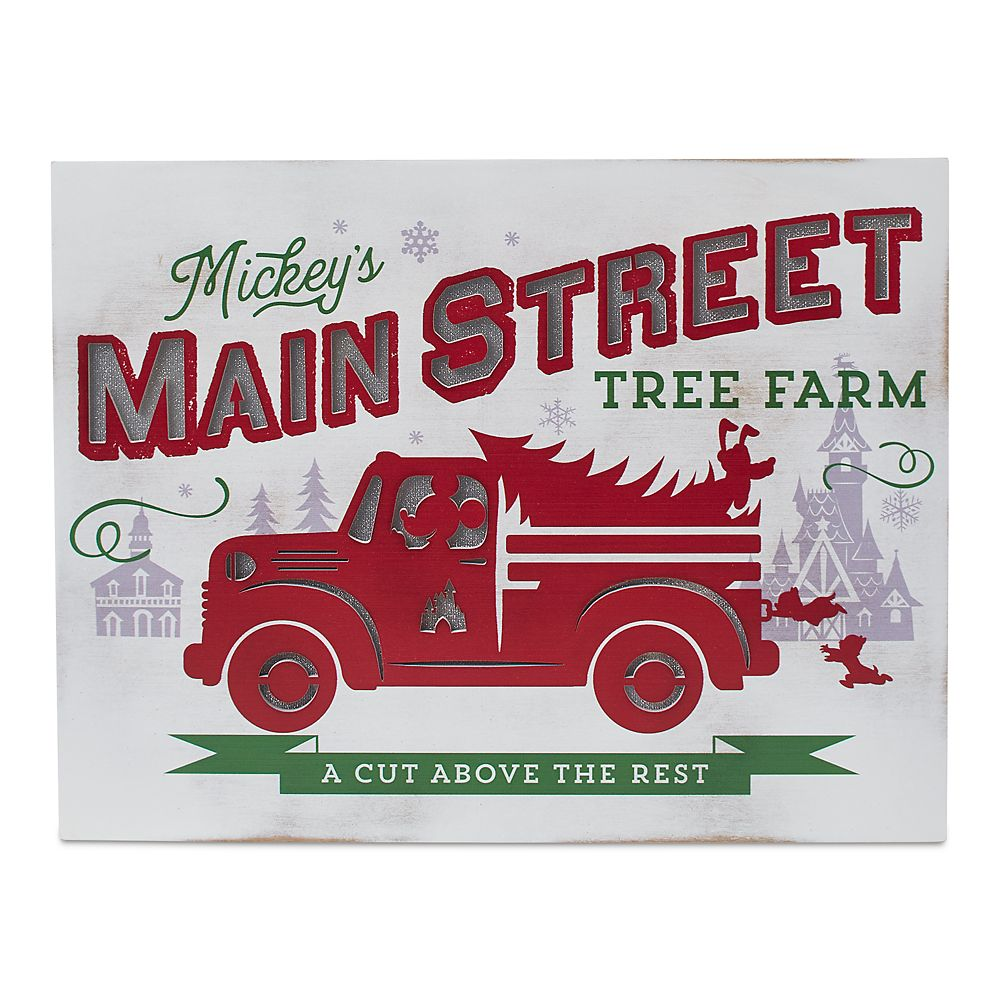 Mickey Mouse Main Street Tree Farm Holiday Light-Up Sign