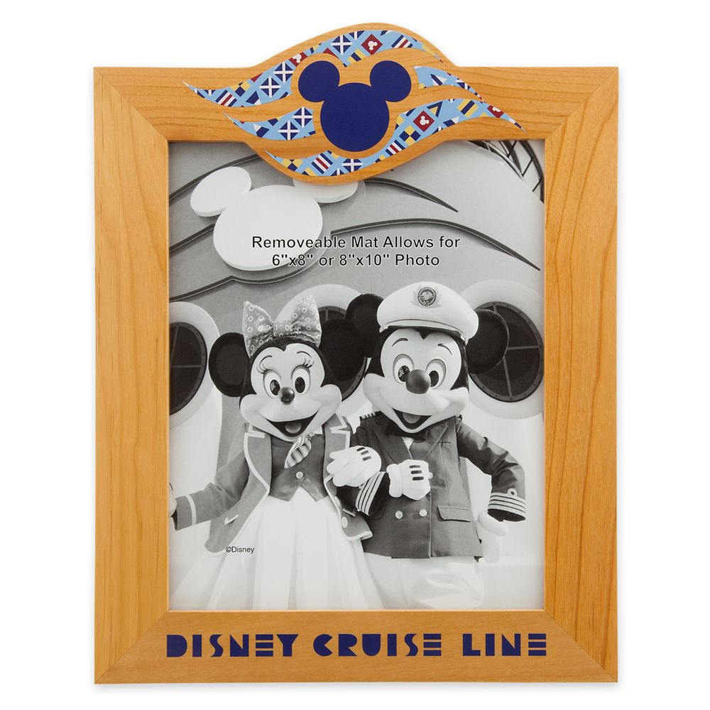 Mickey Mouse Wood Photo Frame  Disney Cruise Line  6'' x 8'' / 8'' x 10''