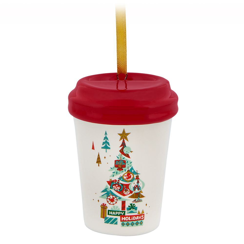 Disney Parks Happy Holidays Starbucks Ceramic Cup Ornament