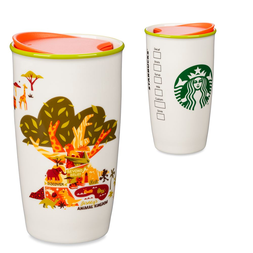 Disney's Animal Kingdom Tree of Life Starbucks Ceramic Travel Tumbler