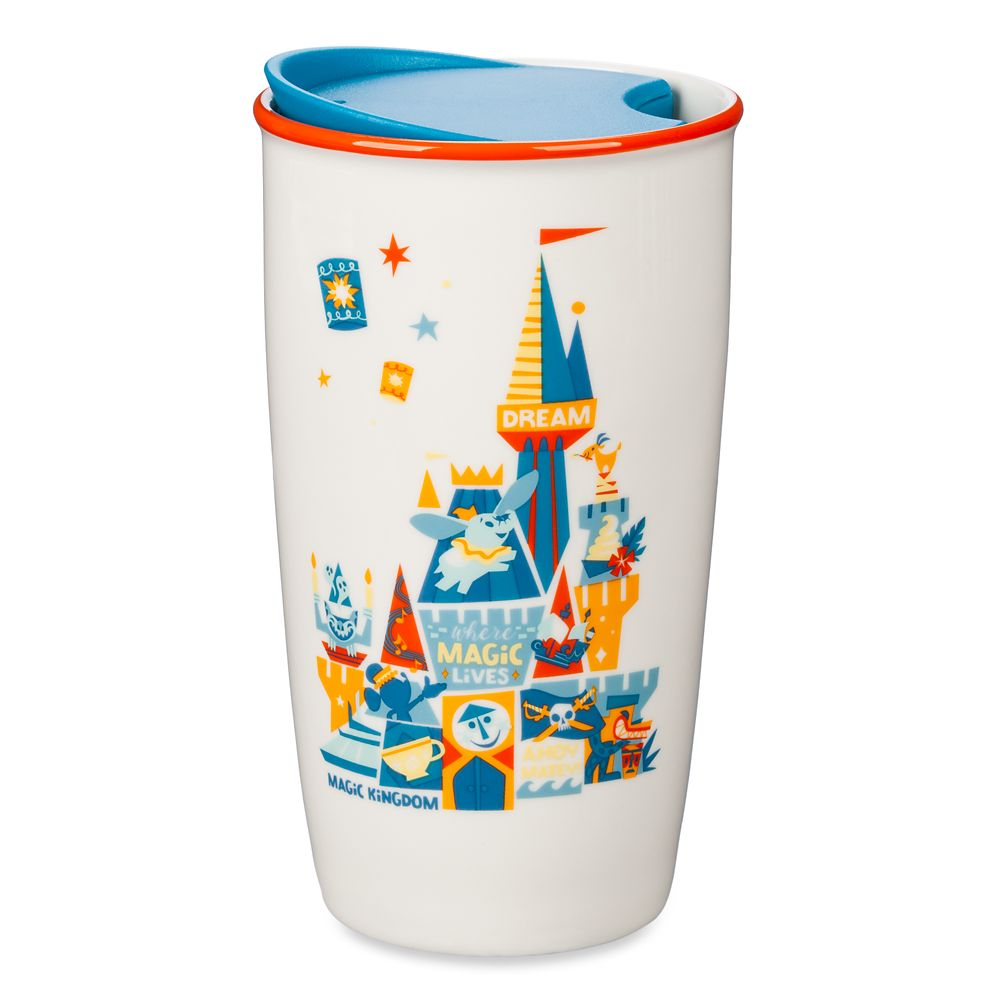Magic Kingdom Castle Starbucks Ceramic Travel Tumbler
