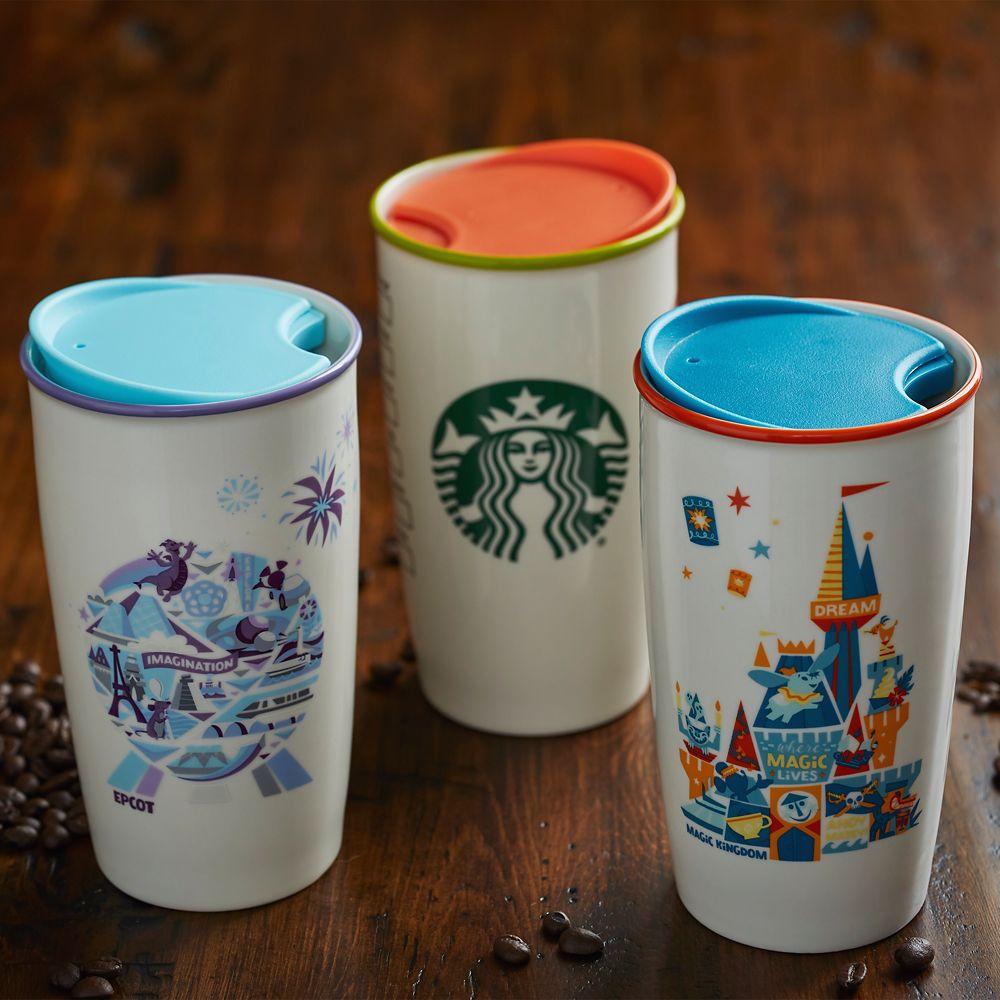 Magic Kingdom Castle Starbucks Ceramic Travel Tumbler