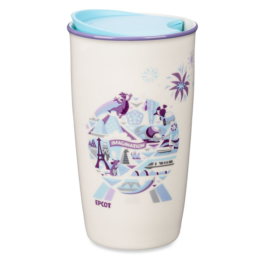 Epcot Spaceship Earth Starbucks Ceramic Travel Tumbler Official shopDisney