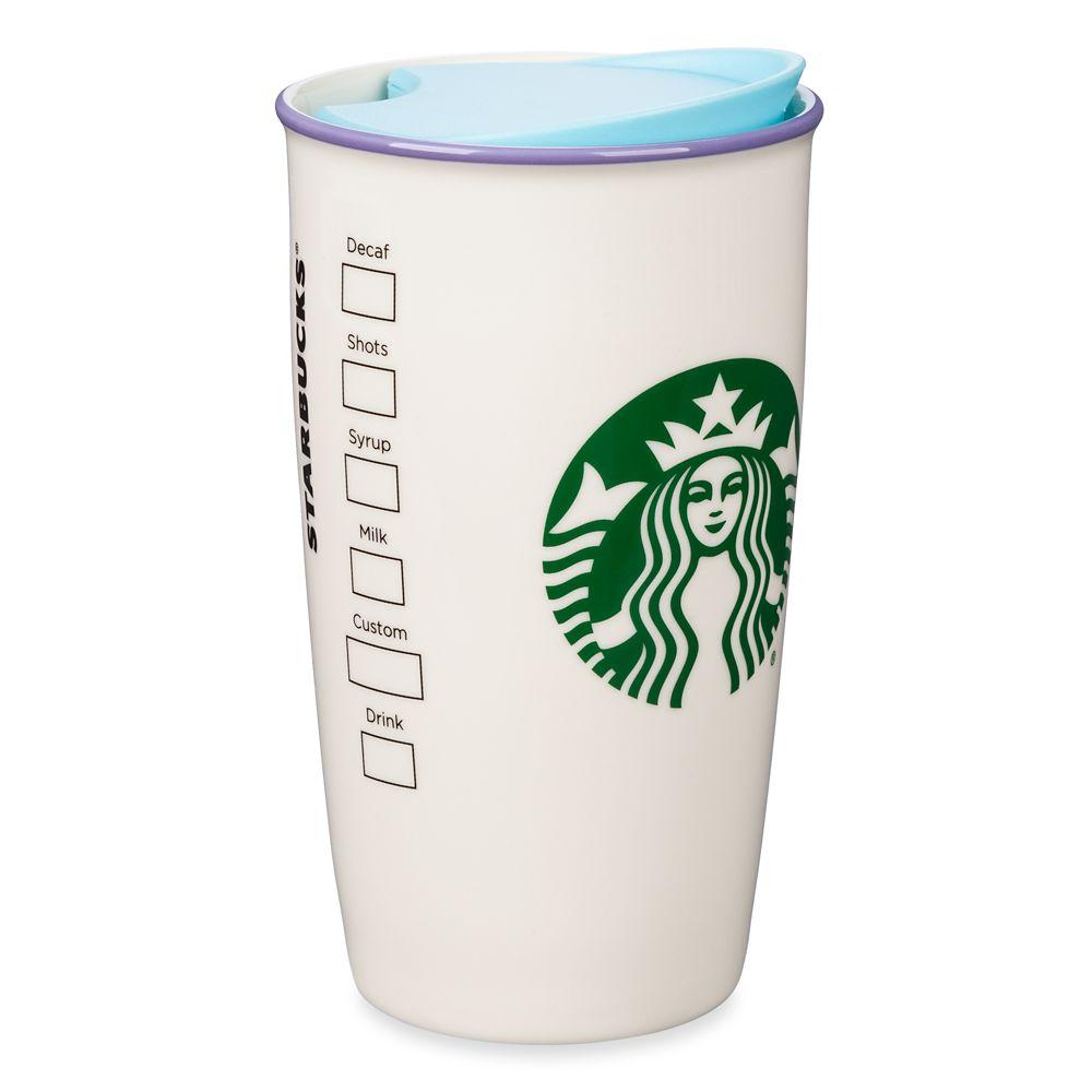 Epcot Spaceship Earth Starbucks Ceramic Travel Tumbler