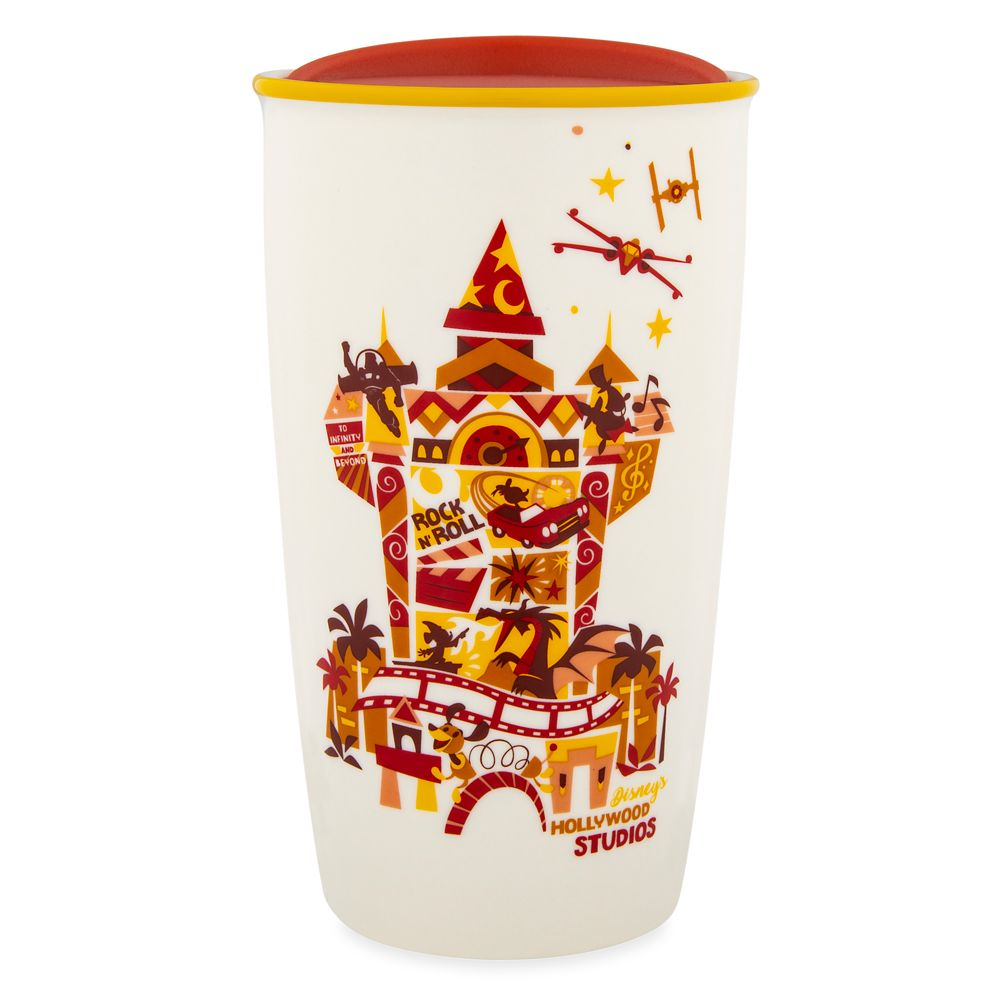 Disney's Hollywood Studios Collage Starbucks Ceramic Travel Tumbler