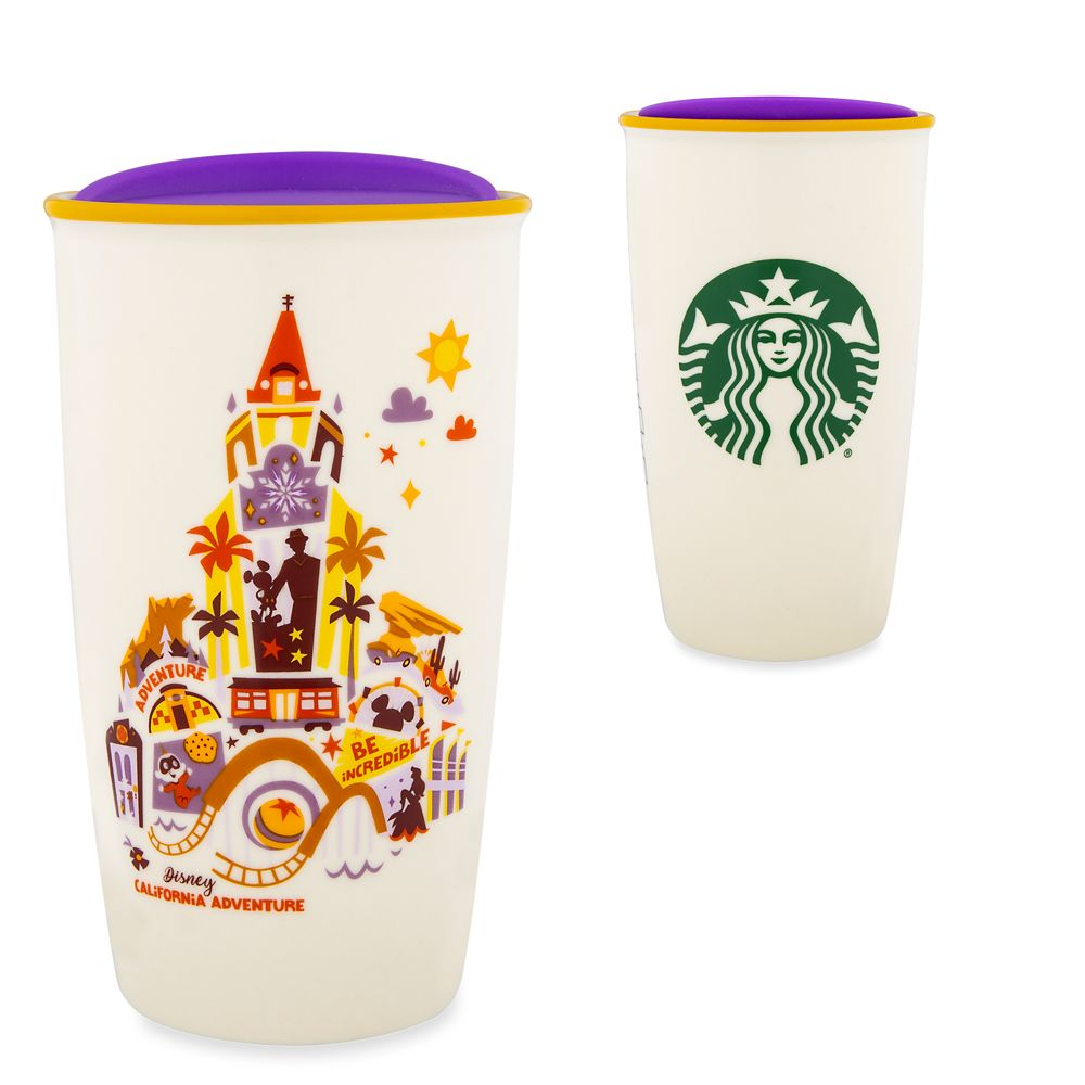 Disney California Adventure Collage Starbucks Ceramic Travel Tumbler