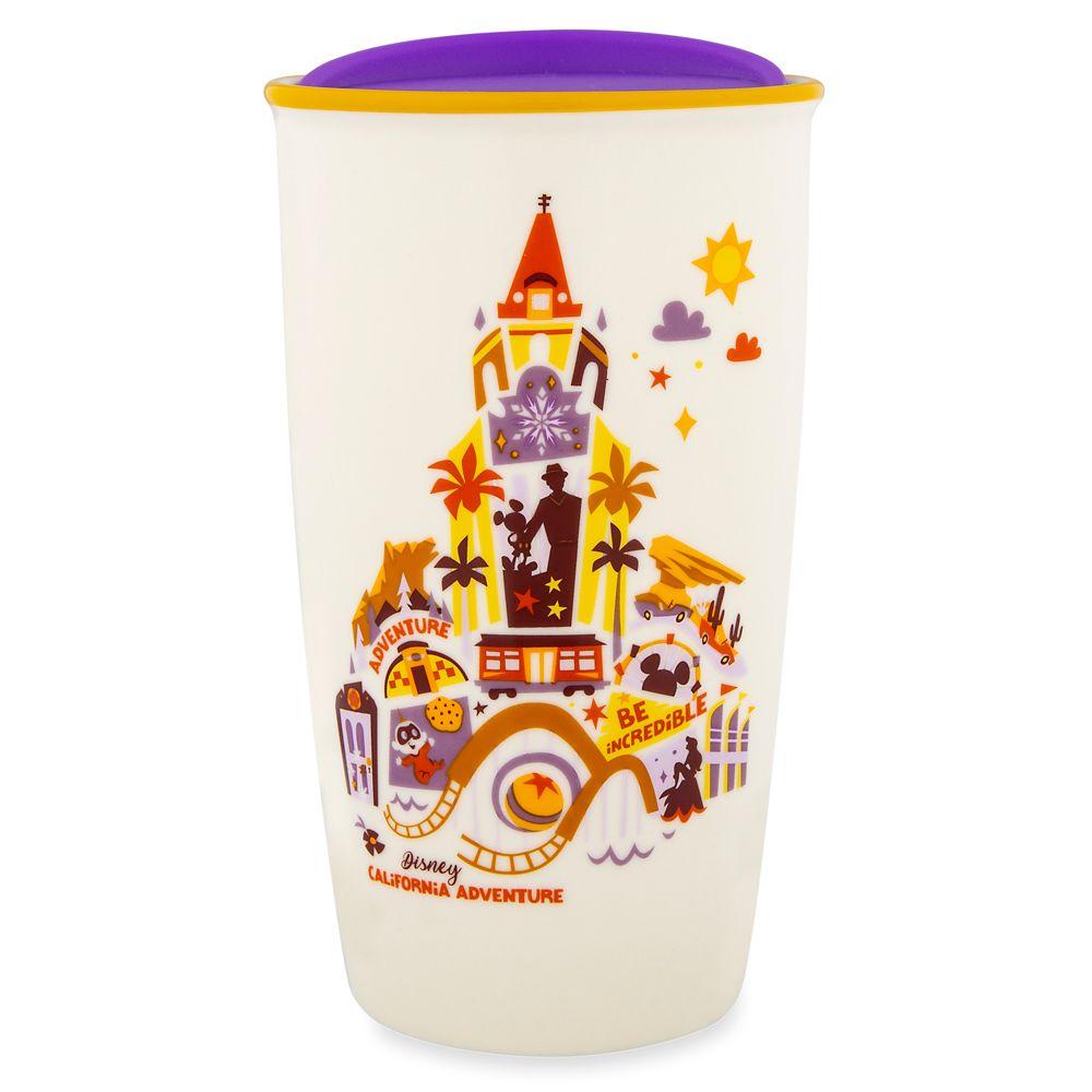 Disney California Adventure Collage Starbucks Ceramic Travel Tumbler