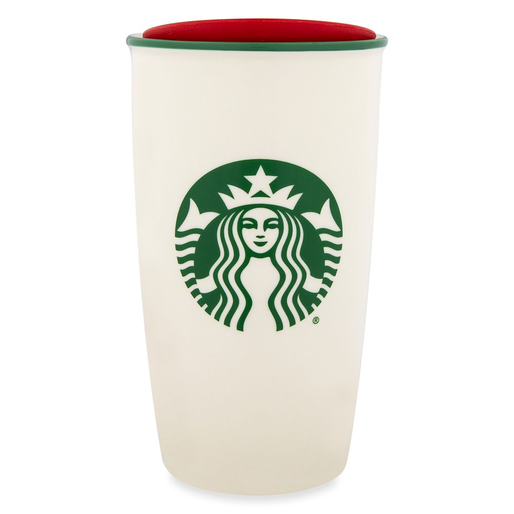 Disney Parks Happy Holidays Starbucks Ceramic Travel Tumbler
