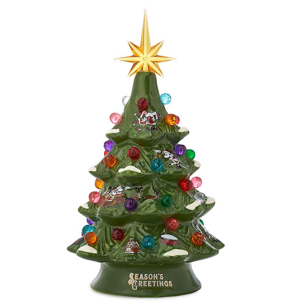 Santa Mickey and Minnie Mouse Light-Up Holiday Tree