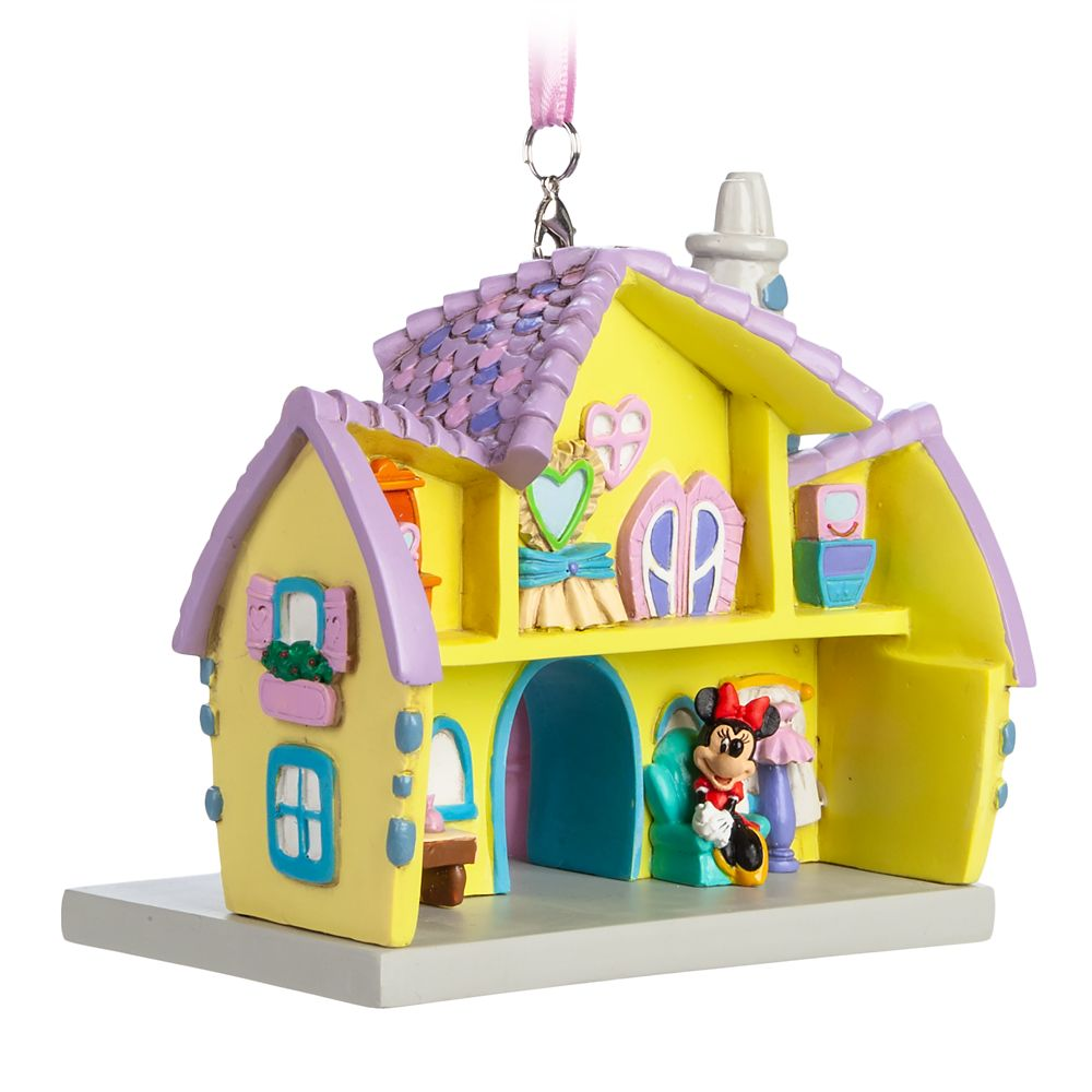 Minnie Mouse House Ornament – Mickey's Toon Town – Disneyland