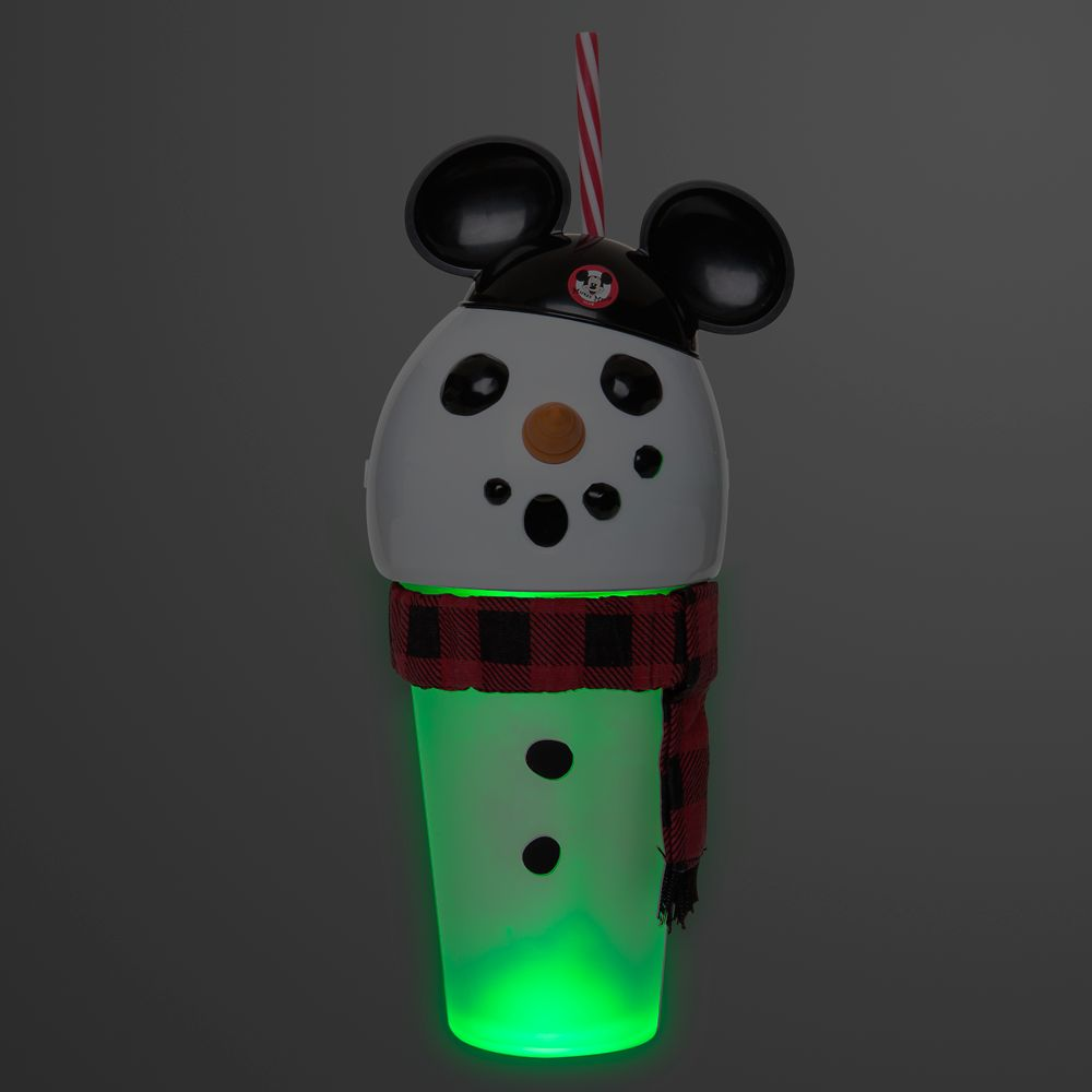 Mouseketeer Snowman Light-Up Tumbler with Straw
