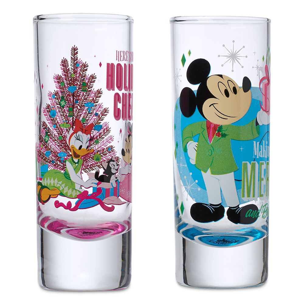 Mickey and Minnie Mouse Holiday Toothpick Holders