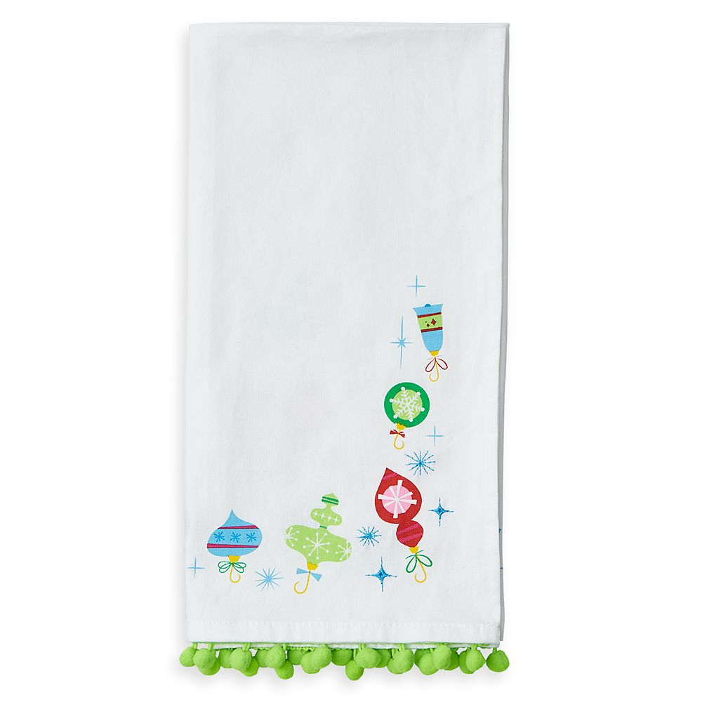 Mickey and Minnie Mouse Holiday Tea Towel