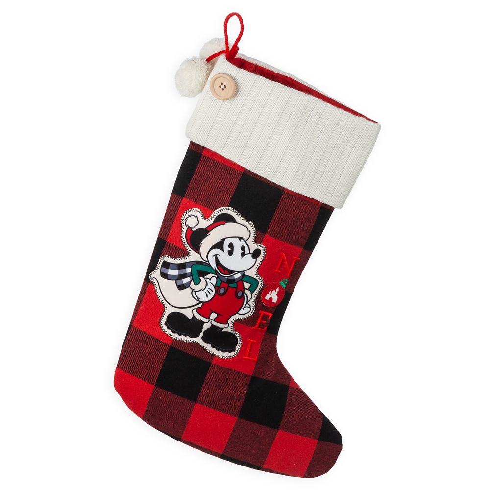 Mickey Mouse Plaid Holiday Stocking