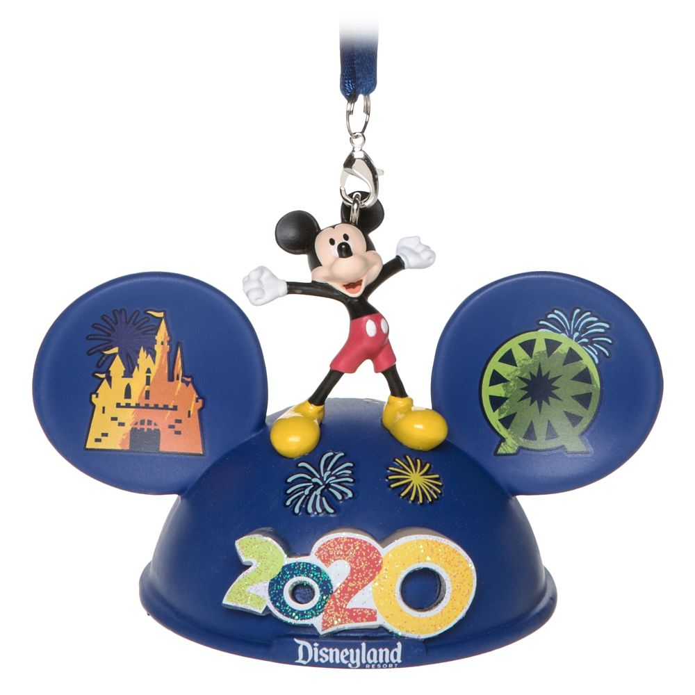 Mickey Mouse and Friends Light-Up Ear Hat Ornament – Disneyland 2020