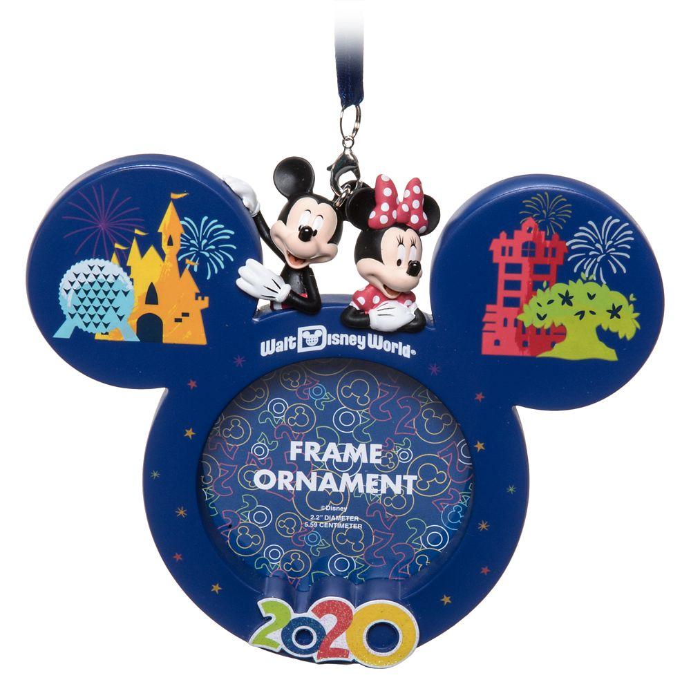 Mickey and Minnie Mouse Frame Ornament – Walt Disney World 2020
