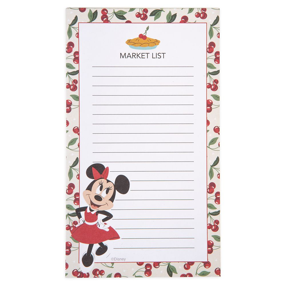 Minnie Mouse Retro Magnetic Notepad
