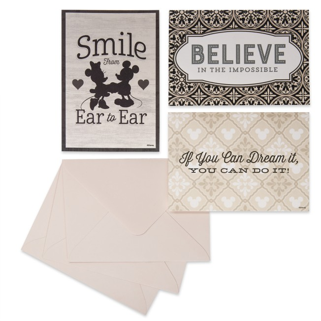 Mickey and Minnie Mouse Notecard Set – Disney Homestead Collection