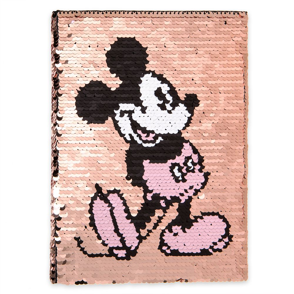 Mickey Mouse Reversible Sequin Journal – Briar Rose Gold
